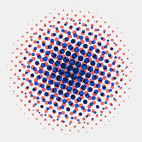 Fond de cercles de demi-teintes radiales abstraites radiales vecteur