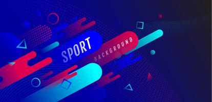 Fond abstrait sport dynamique vecteur