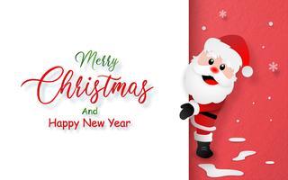 Carte postale du père Noël avec espace de copie