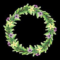 cadre de fleurs et de feuilles de style aquarelle vecteur
