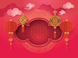 Carte de voeux de nouvel an chinois vecteur
