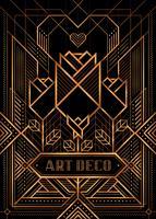 Le grand affiche de style de déco Gatsby vecteur