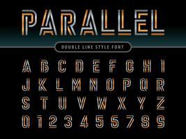 Lignes parallèles Alphabet Lettres et chiffres vecteur