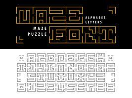 Puzzle labyrinthe Alphabet Lettres et chiffres vecteur