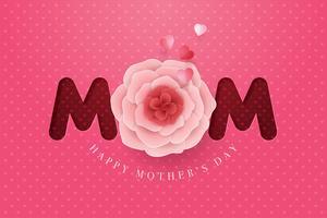 Carte de fête des mères en papier fleur fête des mères