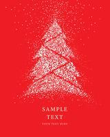 Carte de neige de paillettes d'arbre de Noël vecteur