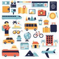 Voyage, éléments infographiques vecteur