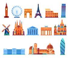 Lieux emblématiques de l'Europe vecteur