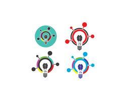 idée d'ampoule, créative, illustration de concept vecteur