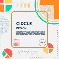 Cercle fond forme moderne et lignes vecteur