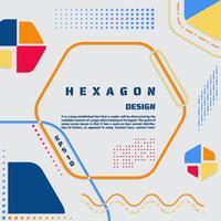 Affiche hexagonale moderne vecteur