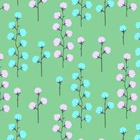 Motif floral lumineux simples dessinés à la main