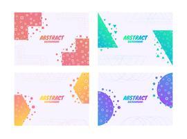 Couche de fond abstrait ligne complexe avec forme géométrique