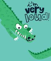 Je suis très fort crocodile vecteur