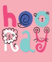 Hooray Animal Graphic