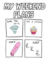 Mes plans de week-end vecteur