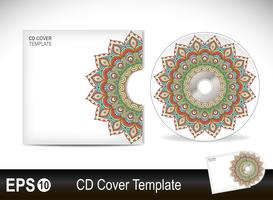 Modèle de conception de couverture de CD en style ethnique