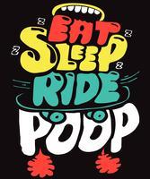 Plancher à roulettes Eat Sleep Ride vecteur