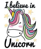 Je crois en Licorne vecteur