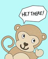 Salut le singe vecteur