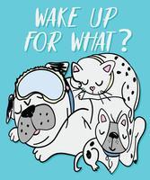 Réveillez-vous pour quel chien vecteur
