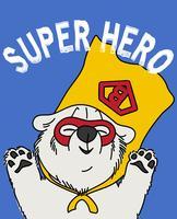 Super héros ours vecteur