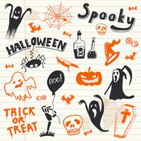 Éléments de doodles halloween.