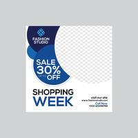 Bannière d'annonces Web Shopping Week Sale vecteur
