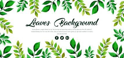Fond de feuilles vertes vecteur