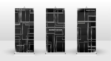 Conception de modèle de bannière verticale