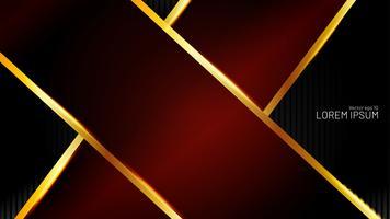 Flèche rouge abstraite avec fond noir vecteur