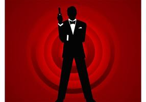 agent 007 vecteur