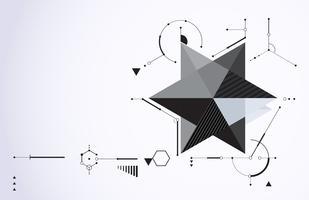 Forme de mouvement de technologie abstraite