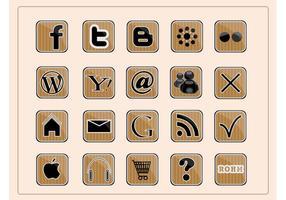 Icônes Web Social vecteur