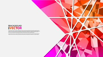 Abstrait géométrique avec des polygones vecteur