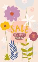 Bannière de site Web de vente de fleurs vecteur