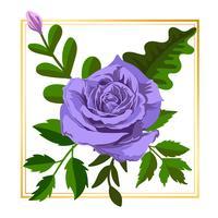 Fleur encadrée violet clair