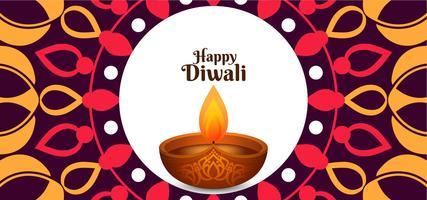 Conception de vecteur heureux Diwali ethnique