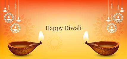 Design élégant et joyeux de Happy Diwali