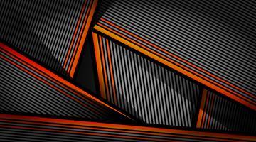 Modèle de motif abstrait orange noir gris vecteur