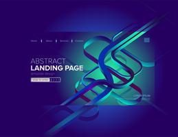 Abstrait bleu dynamique Landing Page Design