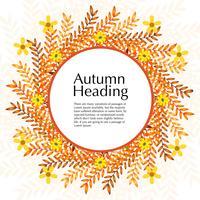 Cadre floral d'automne avec une couleur naturelle orange