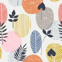 Modèle sans couture automne abstrait avec des feuilles