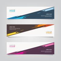 Ensemble de bannières de couleurs diagonales abstraites