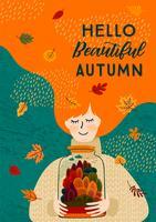 Bonjour affiche d'automne