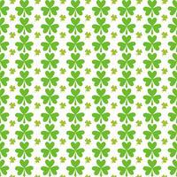 Motif de feuilles vertes sans couture St Patricks Day