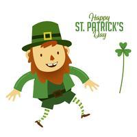 St Patricks Day, mascotte de personnage de dessin animé vecteur