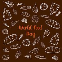 Eléments de la journée mondiale de l'alimentation vecteur
