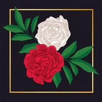 Belle fleur floral vintage