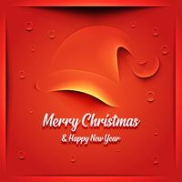 Carte de Noël avec chapeau de père Noël